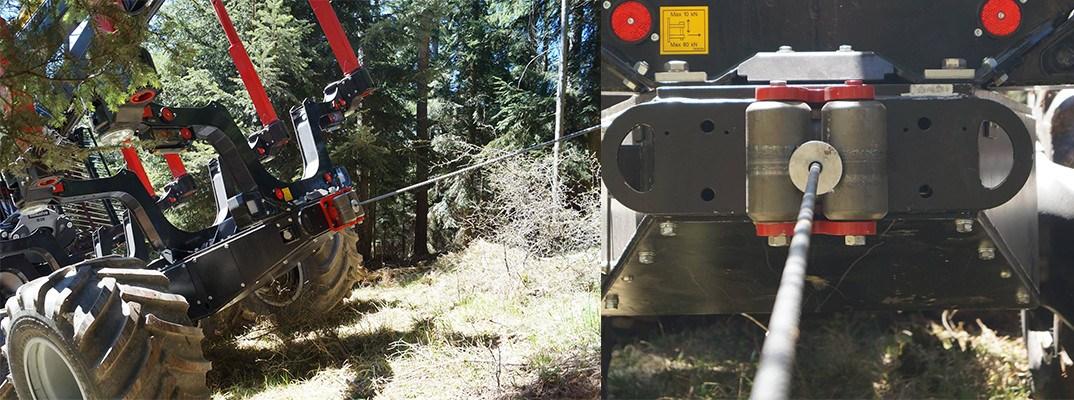 Cablu troliu forestier